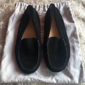 M. Gemi Felize black suede driving loafer
